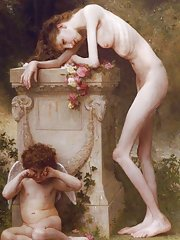 Nues jeunes filles anorexiques